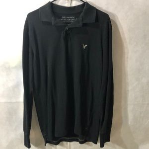 2 for $15-men's long sleeve black polo